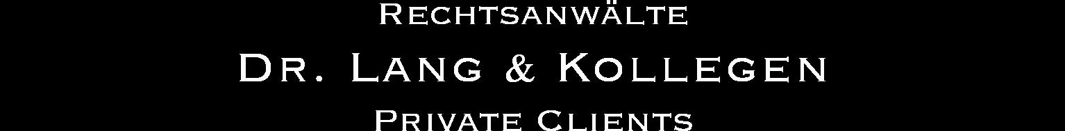 Prof Dr. Stephan J. Lang Logo